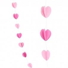 "Гирлянда ""Сердце"" розовый"