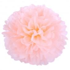 Бумажный помпон персик