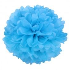 Бумажный помпон синий