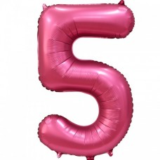 "Цифра ""5"" бордовый сатин"