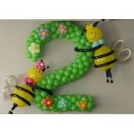 """Цифра """"Два""""с пчелками"""