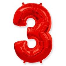 """Цифра """"3"""" красный"""