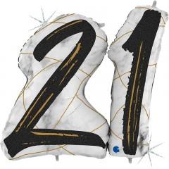 "Цифра ""21"" мрамор черный"