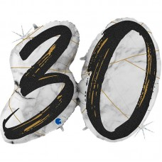"Цифра ""30"" мрамор черный"