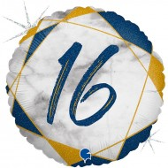 """Круг """"16"""" мрамор синий"""