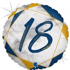 """Круг """"18"""" мрамор синий"""