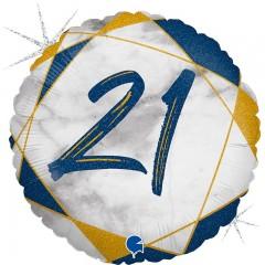 """Круг """"21"""" мрамор синий"""