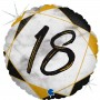 "Круг ""18"" мрамор черный"
