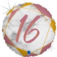 """Круг """"16"""" мрамор розовое золото"""