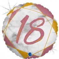 """Круг """"18"""" мрамор розовое золото"""