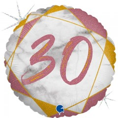 """Круг """"30"""" мрамор розовое золото"""