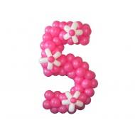"""Цифра """"Пять"""" с цветами"""