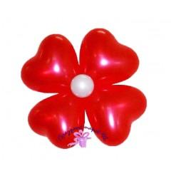Цветок из сердец 4 лепестка
