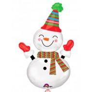 """Фольгированный шар """"Снеговик улыбка"""""""