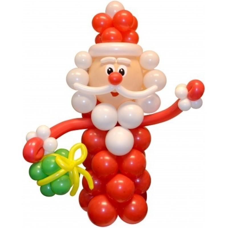 Новогодний подарок из шаров 479
