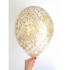 """Воздушные шары """"Конфетти"""" золото"""