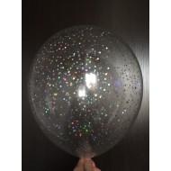 "Воздушные шары ""Конфетти"" серебро"