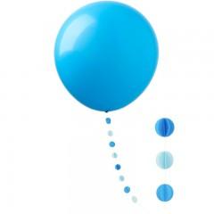 """Шар """"Гигант"""" голубой с подвеской кружки"""