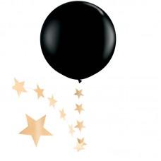 """Шар """"Гигант"""" черный с подвеской звезды"""