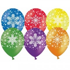 """Воздушные шары """"Снежинки"""" ассорти"""