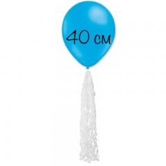 Воздушный шар голубой с хвостом