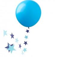 """Шар """"Гигант"""" голубой с подвеской звезды"""