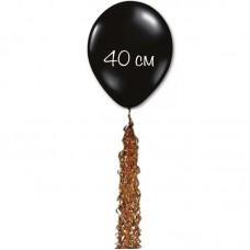 Воздушный шар черный с хвостом