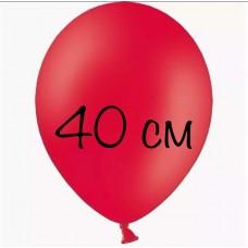"""Воздушный шар без рисунка """"Красный"""" 40 см"""
