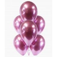 """Воздушный шар без рисунка """"Розовый хром"""""""