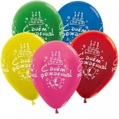 """Воздушные шары  """"С Днем Рождения"""" металлик"""