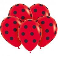 """Воздушные шары  """"Горох"""" красные"""