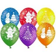 """Воздушные шары """"С Новым Годом"""" дед мороз"""