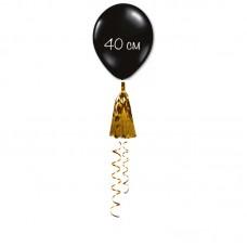 Воздушный шар черный с кисточкой