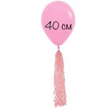 Воздушный шар розовый с хвостом