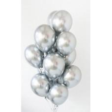 "Воздушный шар без рисунка ""Серебро хром"""