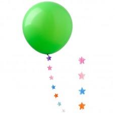 """Шар """"Гигант"""" зеленый с подвеской звезды"""
