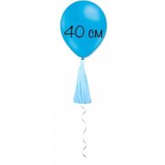 Воздушный шар голубой с кисточкой
