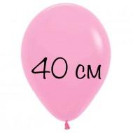"""Воздушный шар без рисунка """"Розовый"""" 40 см"""