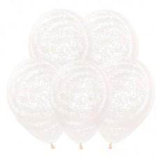 "Воздушные шары  ""Граффити белый"" кристалл"