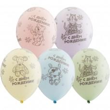 """Воздушные шары  """"С днем рождения"""" зверюшки"""