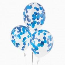 """Воздушные шары """"Конфетти"""" синие бумажные"""