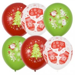 """Воздушные шары """"С Новым Годом"""" елки"""