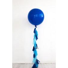 """Шар """"Гигант"""" синий с кисточками"""