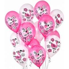 """Воздушные шары  """"Розовый Фламинго"""""""