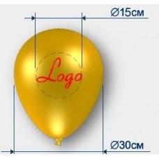 Печать 200 шаров с логотипом
