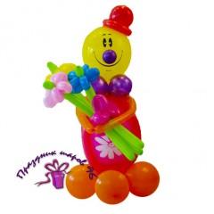 "Фигура ""Клоун с букетом"""
