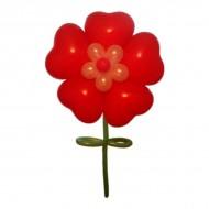 Цветок из сердец