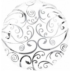 Круг белый филигрань
