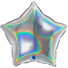 Звезда серебро голография