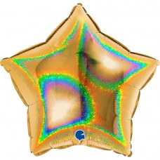 Звезда золото голография